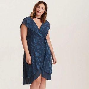 [1] Torrid - Chiffon Wrap Midi Dress